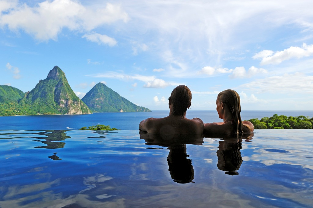 Bestes Honeymoon Luxushotel der Karibik - Jade Mountain