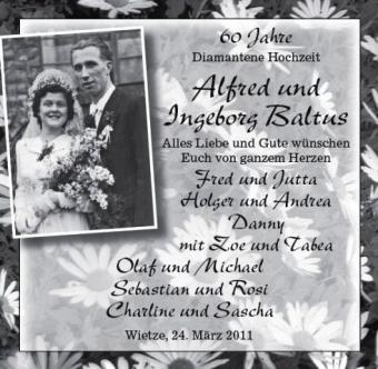 Diamantene Hochzeit Hochzeit Premium