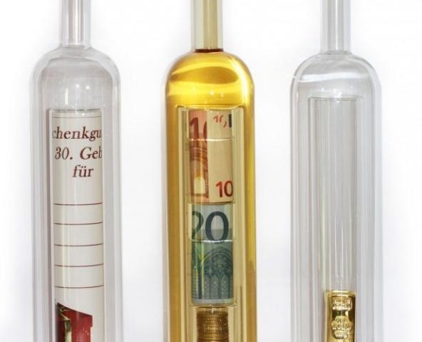 Geldgeschenke - Geschenkflasche