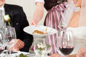 Hochzeitsessen - Menü auf der Hochzeit